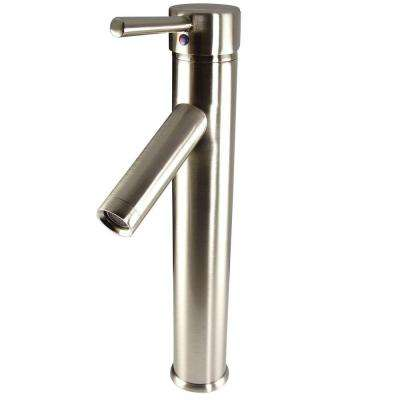 Soana Single Hole 1-Handle Vessel Bathroom Faucet in Brushed Nickel