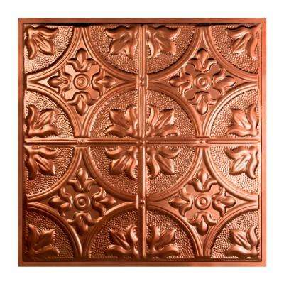 Jamestown 2 ft. x 2 ft. Lay-in Tin Ceiling Tile in Vintage Bronze