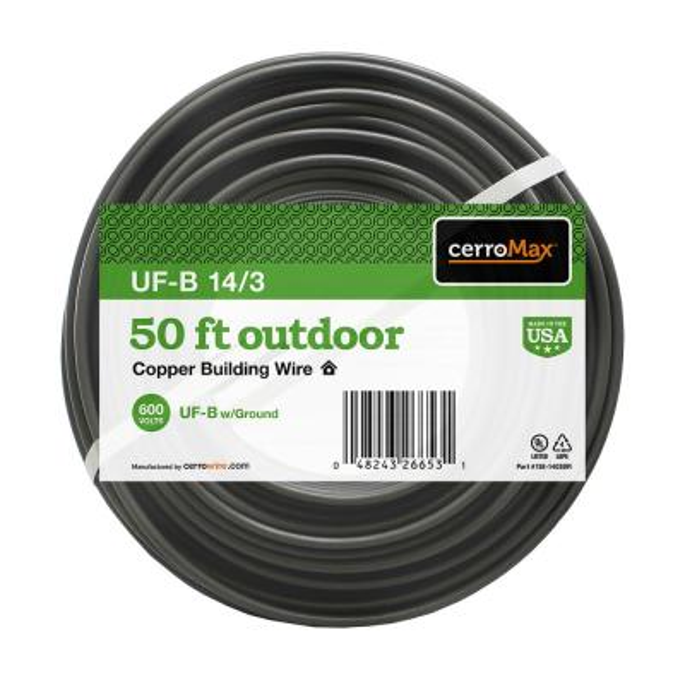 50 ft. 14/3 UF-B Wire