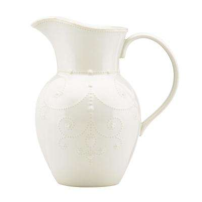 French Perle White Large Pitcher