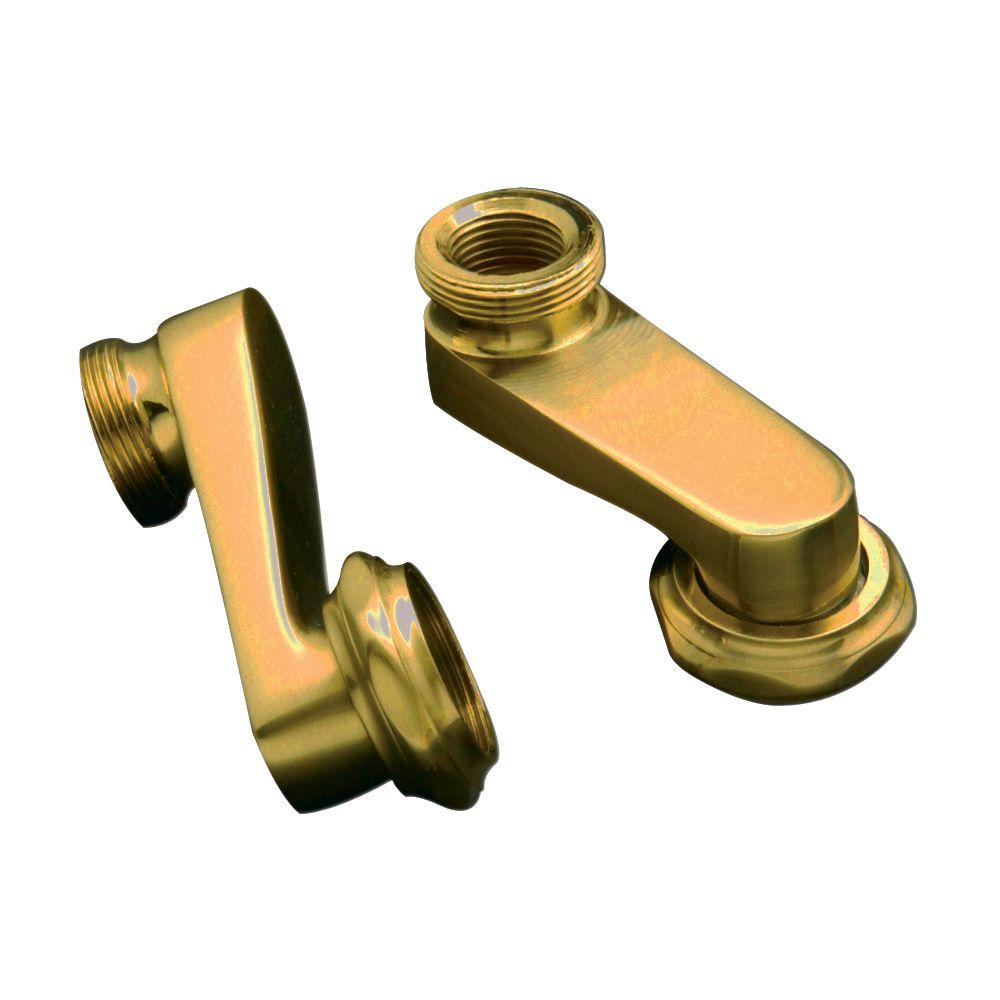 3 in. Deck Mount Swivel Arms in Polished Brass