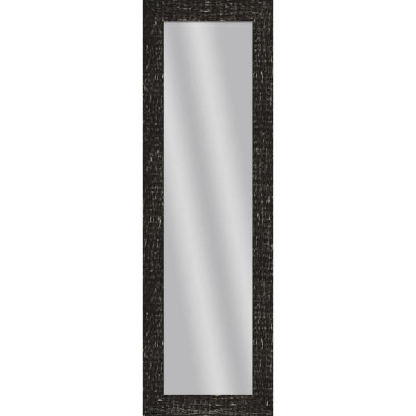 Large Rectangle Stone Gray Art Deco Mirror (53.5 in. H x 17.5 in. W)