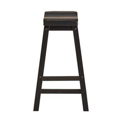 24 in. Elliot Midnight Black Bar Stool