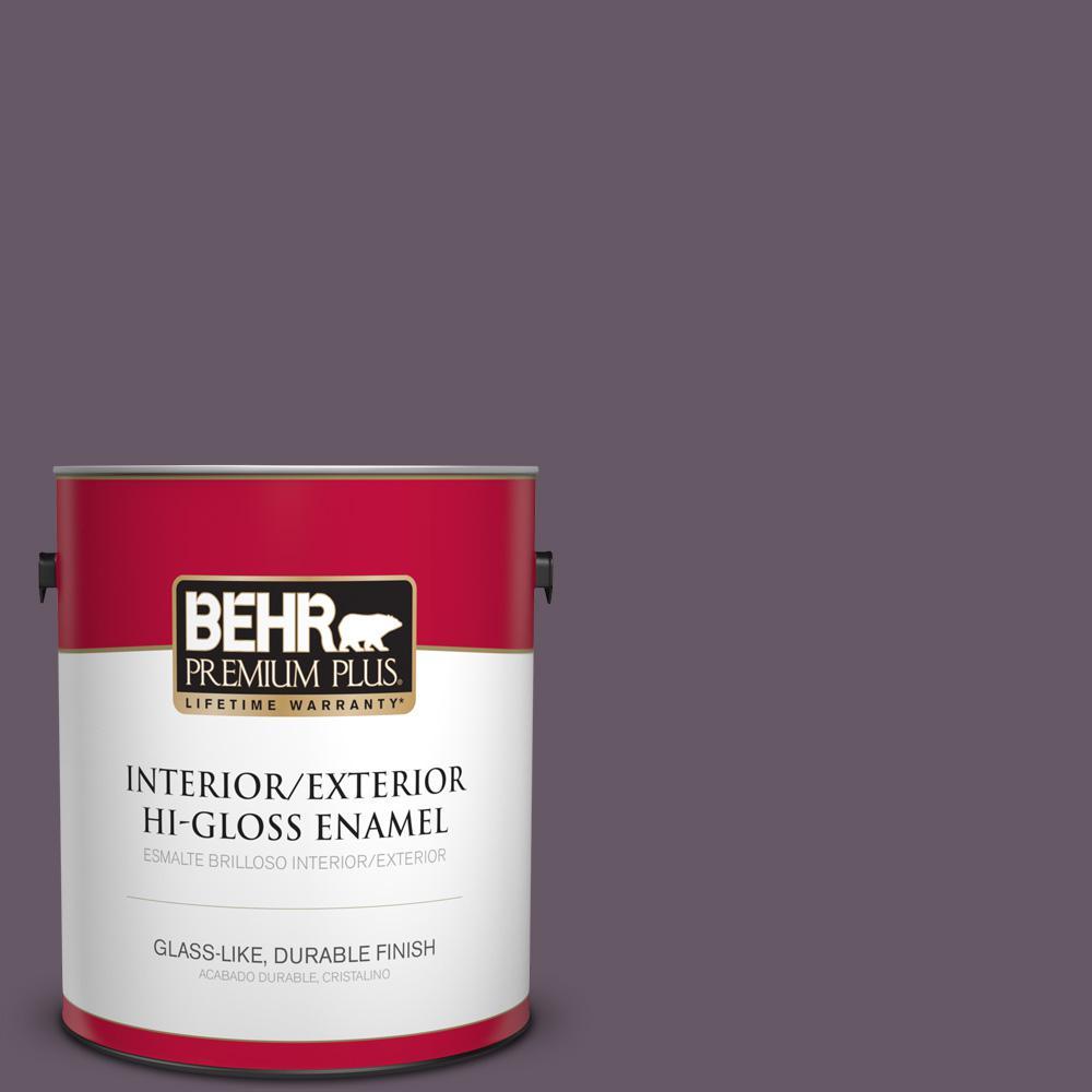 1 gal. #PPU17-05 Preservation Plum Hi-Gloss Enamel Interior/Exterior Paint
