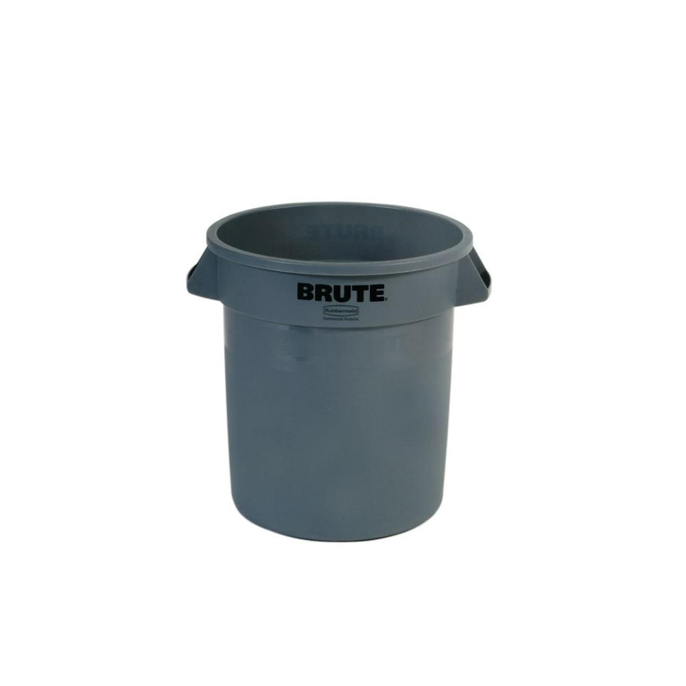 rubbermaid commercial products brute 10 gal grey round trash can
