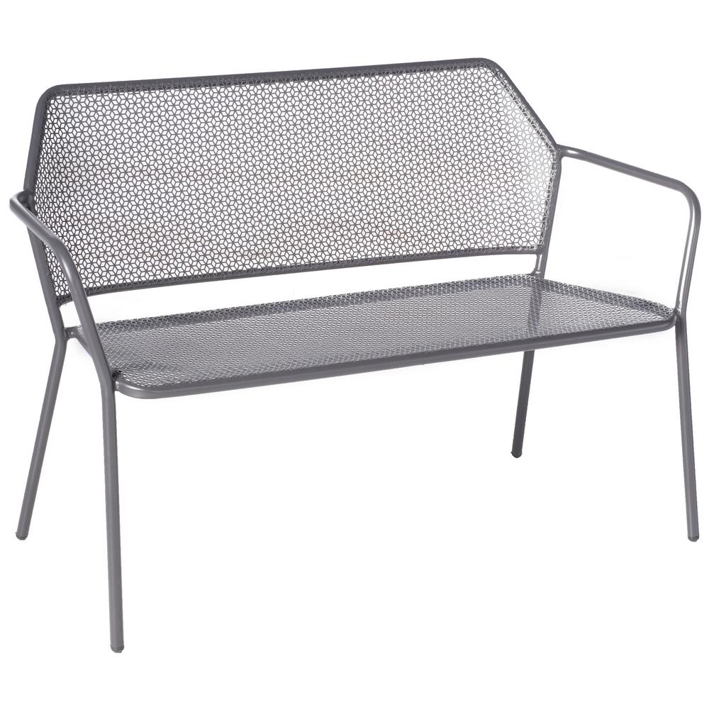 Alfresco 24 in. Martini Pencil Point Finish Metal Outdoor Garden Bench was $241.79 now $159.0 (34.0% off)