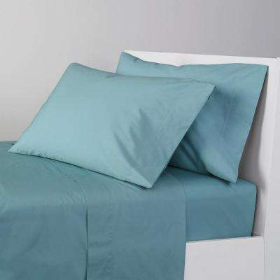 Company Cotton 4-Piece 300 Thread Count Percale Sheet Set