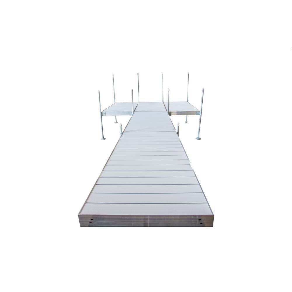 Tommy Docks 24 ft. Platform-Style Aluminum Frame with Aluminum Decking Platinum Series Complete Dock Package