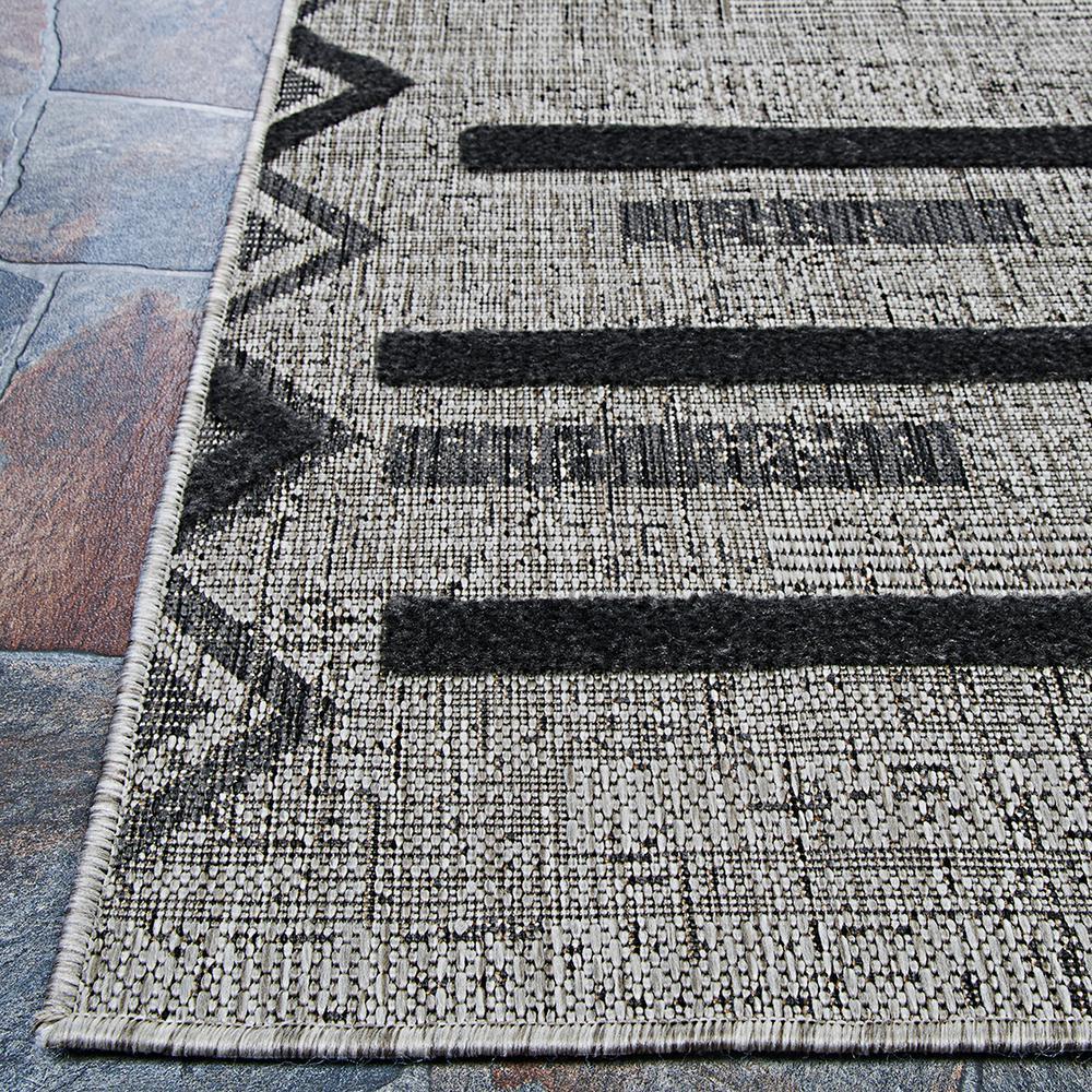 Couristan Veranda Baja Grey Coal 2 Ft X 4 Ft Indoor Outdoor Area Rug 65470551022043t The Home Depot