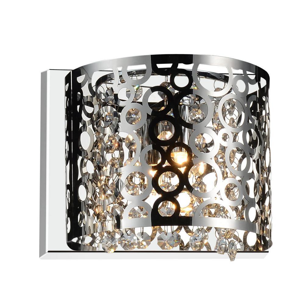 Bubbles 1-Light Chrome Sconce
