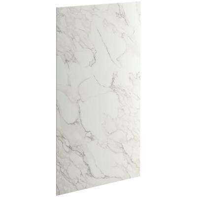 Choreograph 0.3125 in. x 36 in. x 72 in. 1-Piece Bath/Shower Wall Panel in CrossCut Dune for 72 in. Bath/Showers