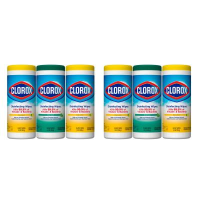 35-Count Crisp Lemon and Fresh Scent Bleach Free Disinfecting Wipes (6-Pack)