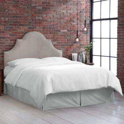 beds n high arch compressed bedroom light headboards king b furniture headboard grey button gray velvet nail notched