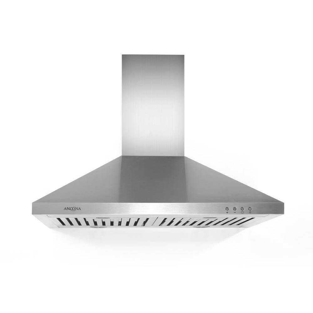 Rapido IV 30 in. Wall-Mounted Convertible Range Hood in Stainless Steel
