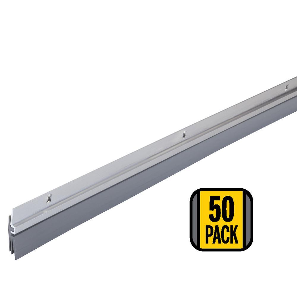 M-D Building Products 1/4 in. x 36 in. Aluminum Triple-Fin Vinyl Door Sweeps (50-Pack)