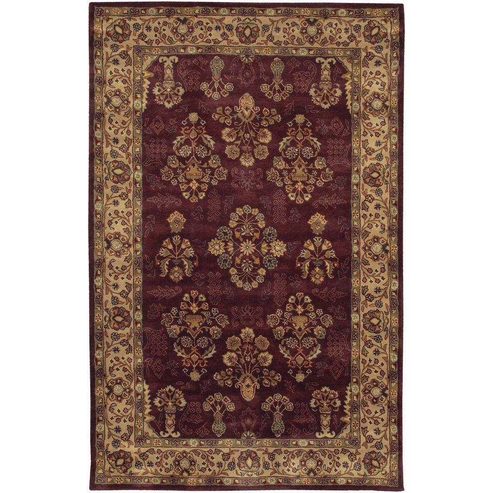 Chandra Dream Purple 5 ft. x 7 ft. 6 in. Indoor Area Rug