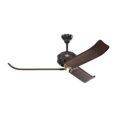 Cupra 60 in. Indoor Antique Iron with Hand Rubbed Antique Brass Ceiling Fan with Remote Control