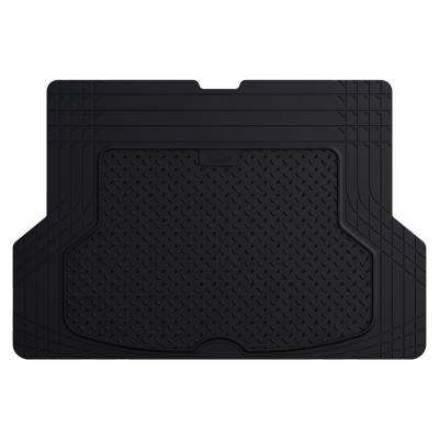 Black Durable Heavy Duty 53 in. x 36 in. Rubber Cargo Mat