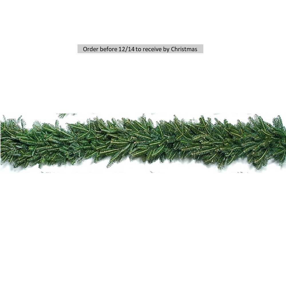20 ft. Fresh Evergreen Fraser Fir Christmas Garland (Live)