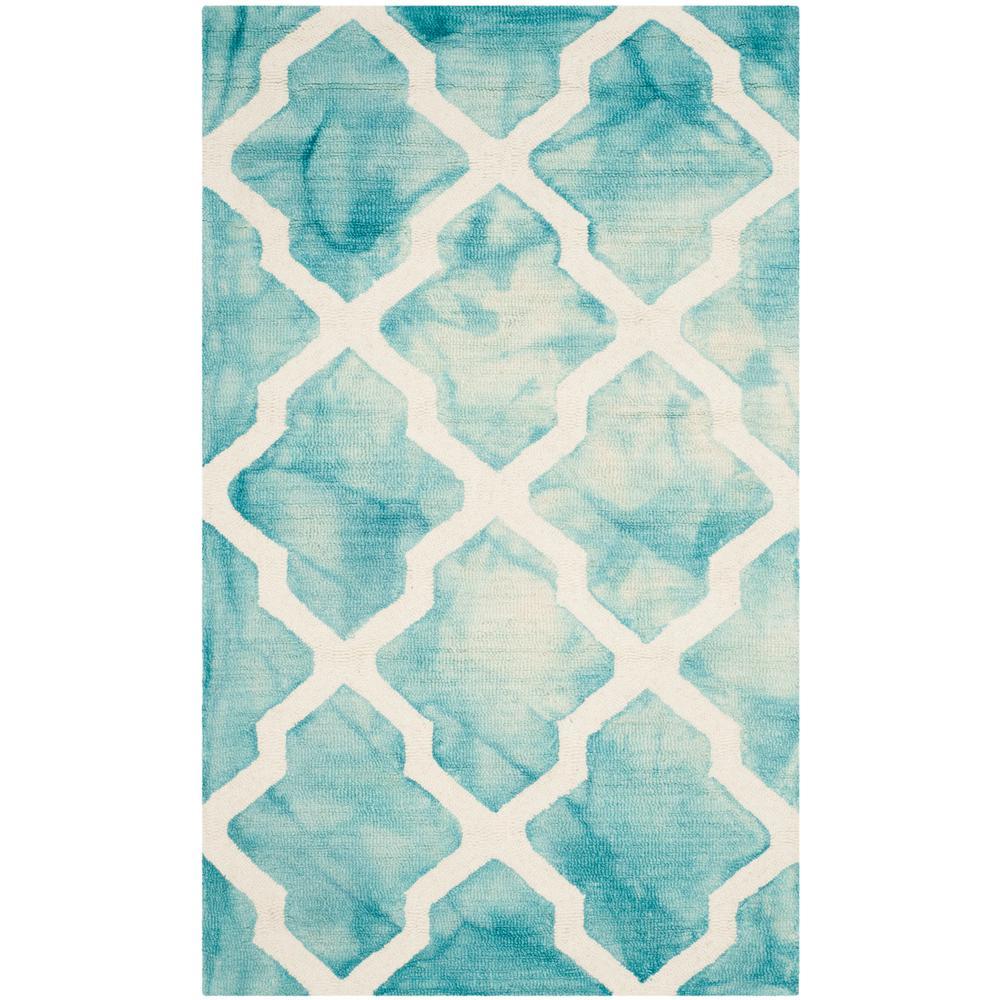 Safavieh Dip Dye Gray Turquoise Area Rug Reviews: Safavieh Dip Dye Turquoise/Ivory 2 Ft. X 3 Ft. Area Rug