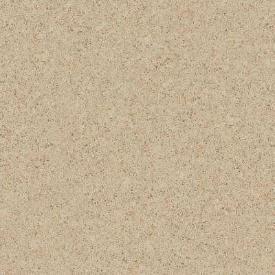 4 in. x 4 in. Natural Quartz Vanity Top Sample in Flaxen Fresco