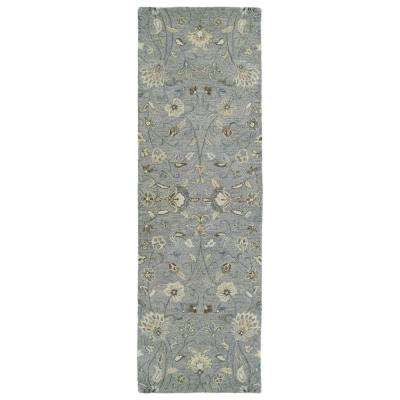 Helena Grey 3 Ft X 12 Ft Runner Rug