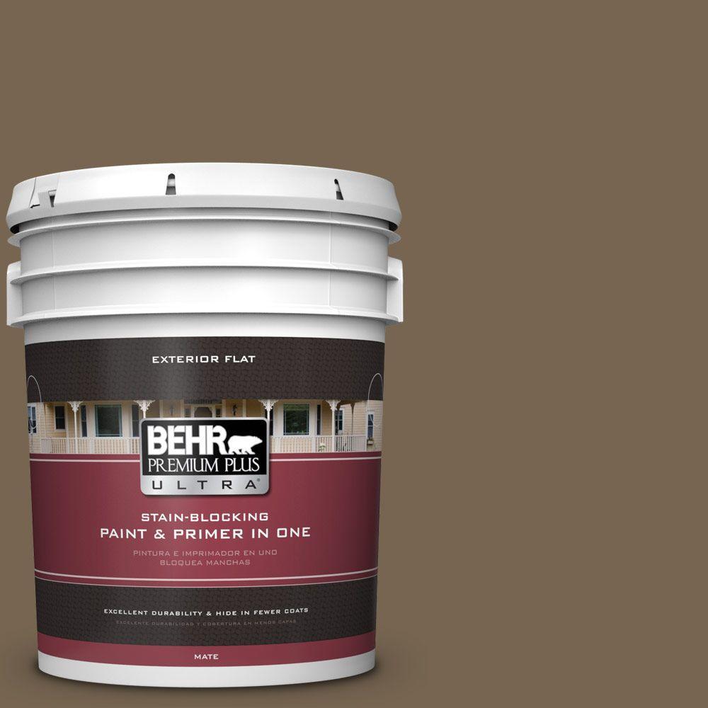 BEHR Premium Plus Ultra 5-gal. #BNC-35 Ground Pepper Flat Exterior Paint