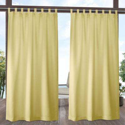 Indoor/Outdoor Solid Cabana Sundress Light Filtering Tab Top Curtain Panel 54 in. W x 84 in. L (2 Panels)