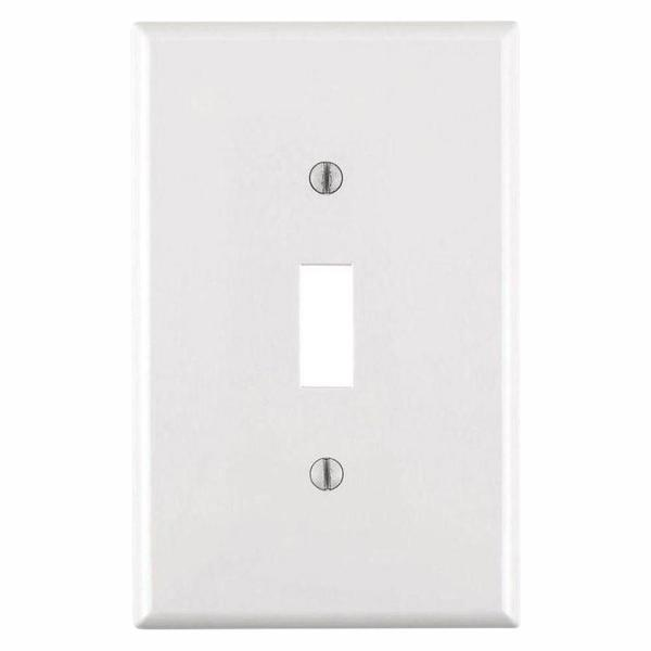1-Gang Midway Toggle Nylon Wall Plate, White (10-Pack)