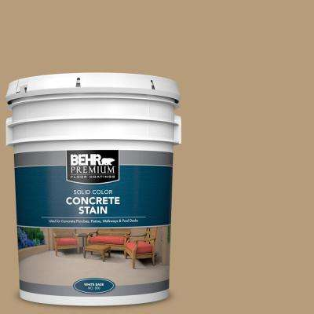 5 Gal. #PFC-28 Desert Sandstone Solid Color Flat Interior/Exterior Concrete Stain