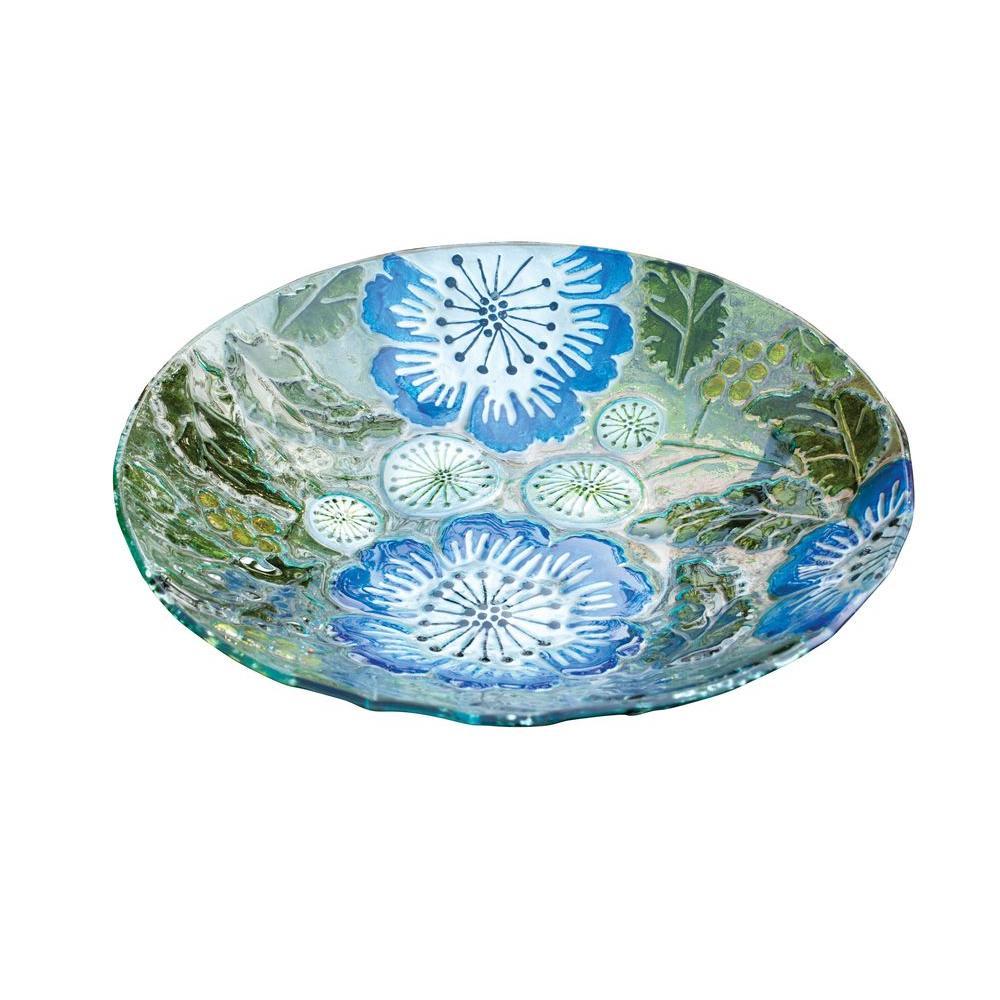 Evergreen Enterprises Poppy Paradise Glass Birdbath