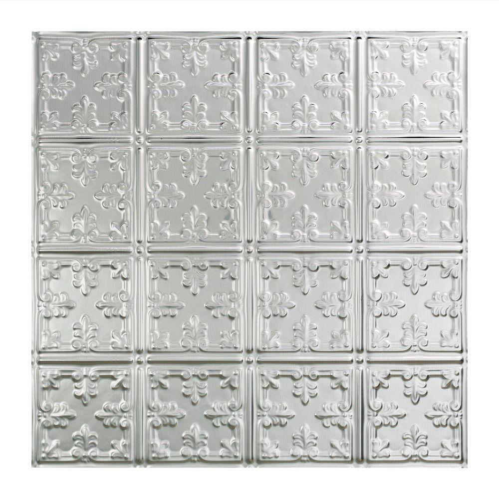 Fasade Traditional 10 - 2 ft. x 2 ft. Lay-in Ceiling Tile in Brushed Aluminum