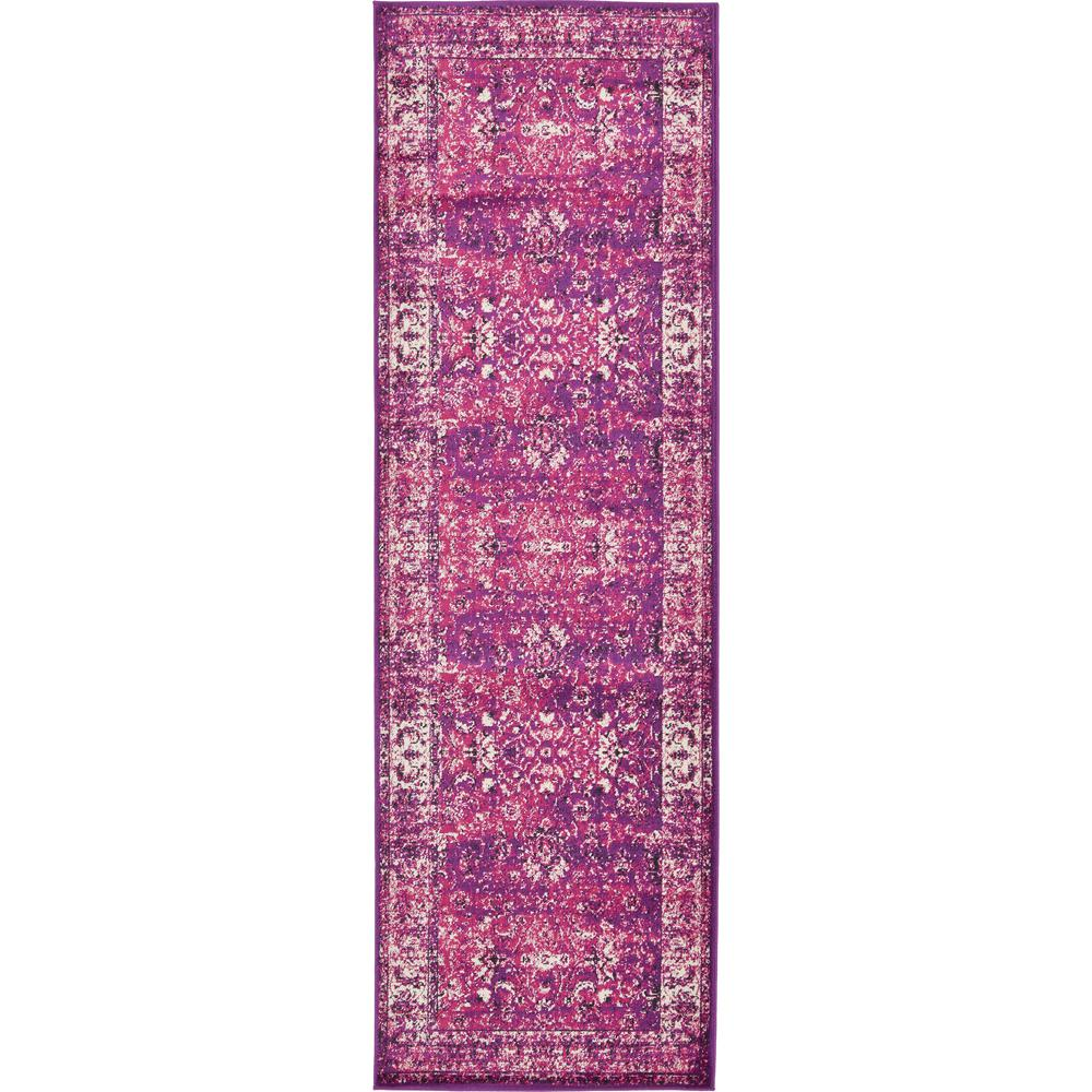Unique Loom Istanbul Lilac 3 Ft X 9 10 In Runner Rug