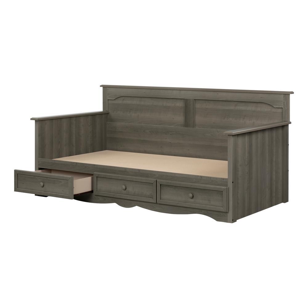 Savannah Gray Maple Twin Bed