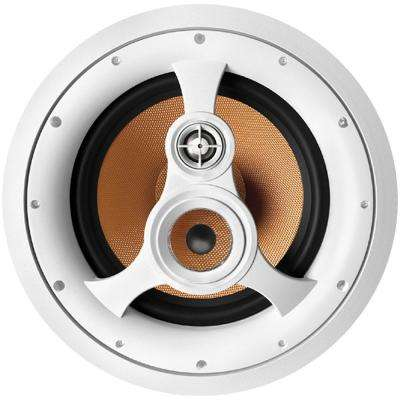 250W 3-Way 10 in. In-Ceiling Speaker with Pivoting Tweeter and Midrange, Metal and Cloth Grills