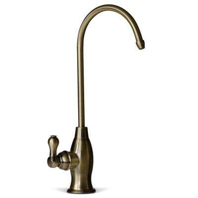 Drinking Water Coke Shaped High-Spout Faucet for Reverse Osmosis Water Filtration Systems in Antique Brass