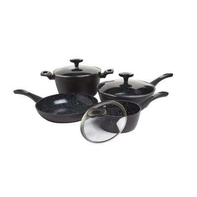 Stratum 7-Piece Black Non-Stick Ceramic Cookware Set