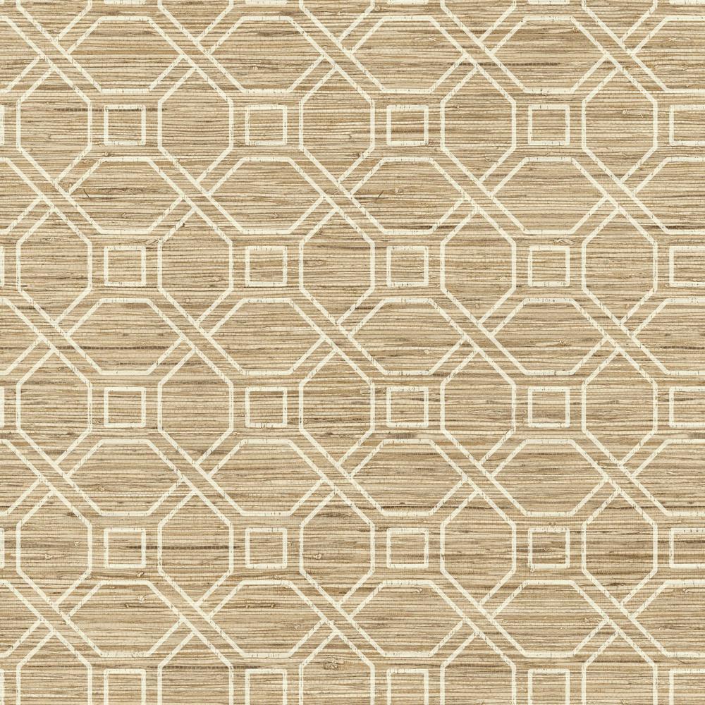 RoomMates 28.18 sq. ft. Coastal Trellis Peel and Stick Wallpaper RMK11191WP