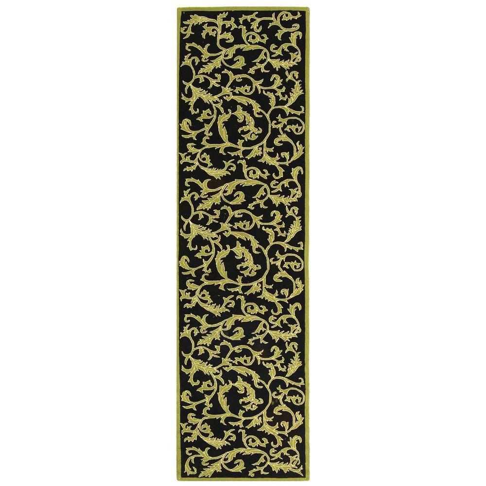 Chelsea Black 2 ft. 6 in. x 10 ft. Rug Runner