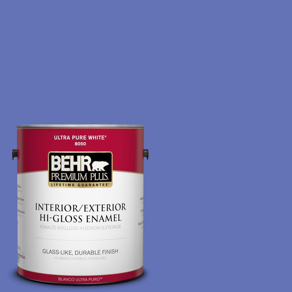 BEHR Premium Plus 1-gal. #P540-6 Wild Pansy Hi-Gloss Enamel Interior/Exterior Paint