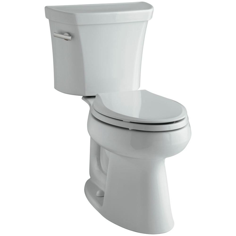 KOHLER Highline 2-piece 1.6 GPF Single Flush Elongated Toilet in Ice Grey