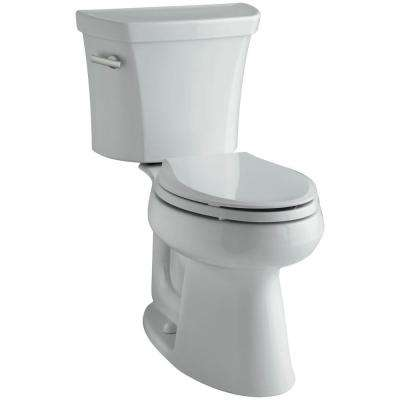 Highline 2-piece 1.6 GPF Single Flush Elongated Toilet in Ice Grey, Seat Not Included