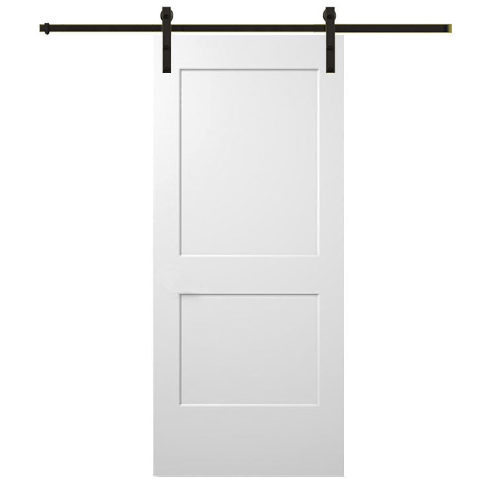 Mmi Door 36 In X 80 Smooth Monroe Primed Composite Barn With