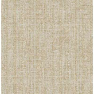 Ramie Neutral Linen Peel and Stick Wallpaper Sample