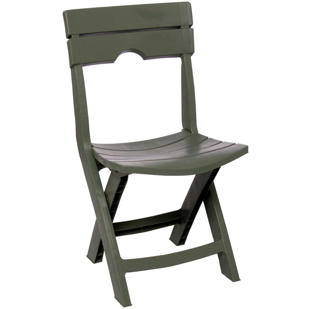 Adams Manufacturing Quik-Fold Sage Resin Plastic Outdoor Lawn Chair  sc 1 st  Home Depot & Adams Manufacturing Quik-Fold Sage Resin Plastic Outdoor Lawn Chair ...