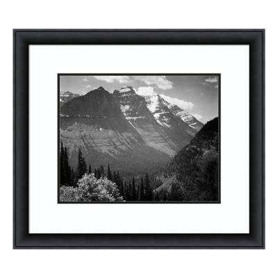 """""""Snow Covered Mountains, Glacier National Park, MT - National Parks and Monuments, 1941"""" by Ansel Adams Framed Wall Art"""