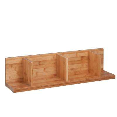 5.9 in. x 5.9 in. Sectioned Bamboo Wall Shelf Decorative Shelf