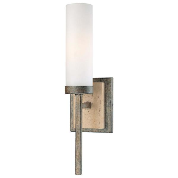 1-Light Aged Patina Iron Wall Sconce