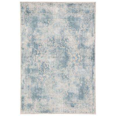 Cirque Blue 7 ft. 6 in. x 9 ft. 6 in. Medallion Rectangle Area Rug