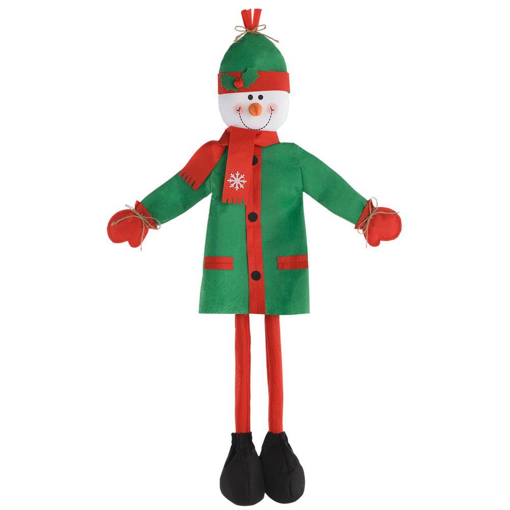 christmas friendly snowman standing decoration 2 pack - Free Standing Christmas Decorations